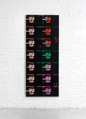 Andy Warhol (American, 1928-1987) 14 Small Electric Chairs Reversal Series 1980