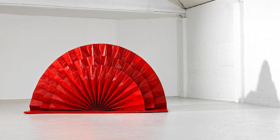 Kazuo Shiraga (Japanese, 1924-2008) Untitled (Red Fan) 1965