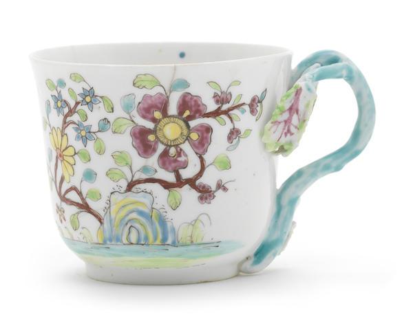 An early Longton Hall coffee cup, circa 1753-55