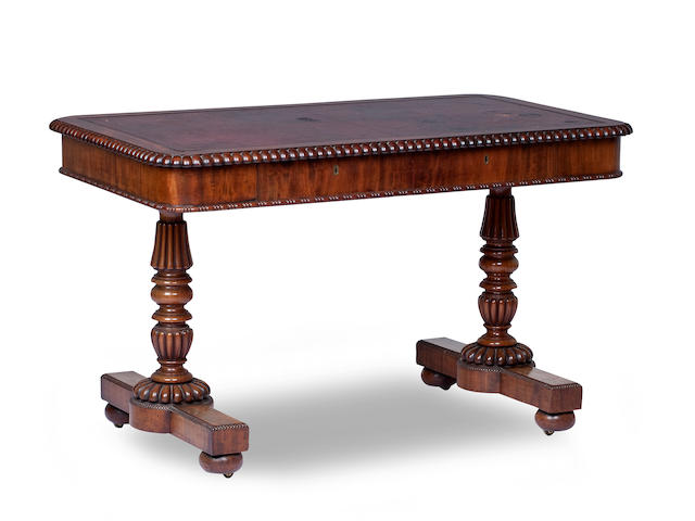 By Gillows, A Regency mahogany writing table
