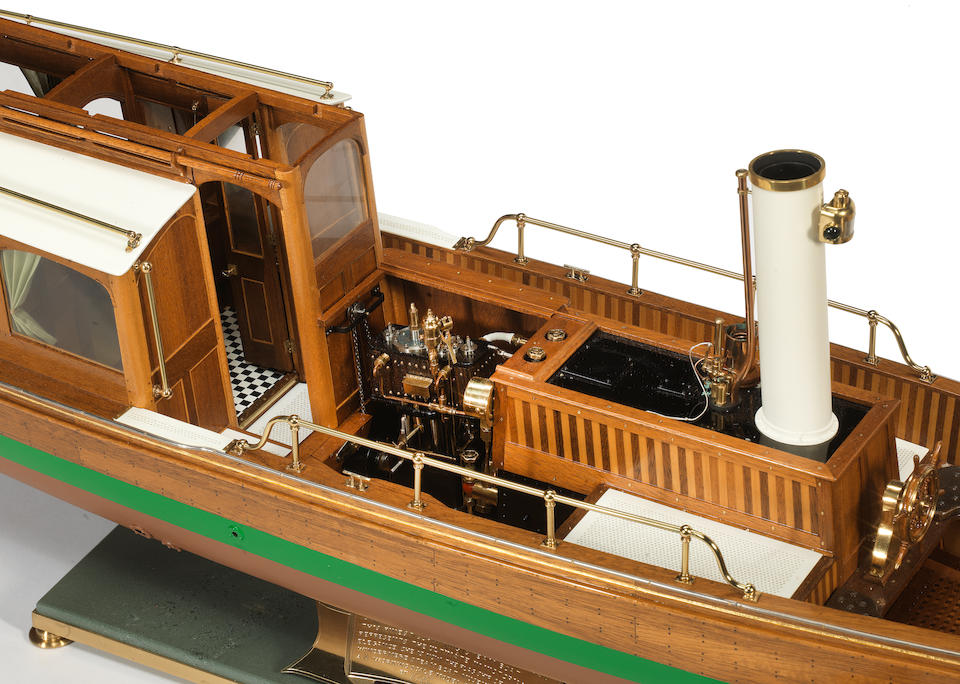 A superb radio controlled model of the Steam Launch 'Branksome', 1896, Built by Keith Townsend of Annan, Fife in 1992, to a scale of 1:12, serial number 007.