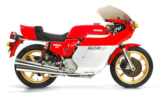 1978 MV Agusta 832cc Monza Frame no. 2210336 Engine no. 2210336