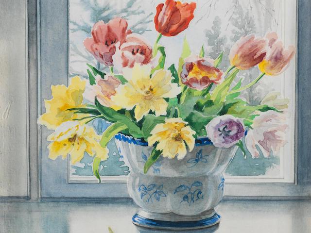 Olga (Grand Duchess) Alexandrovna (Russian, 1882-1960) Tulips