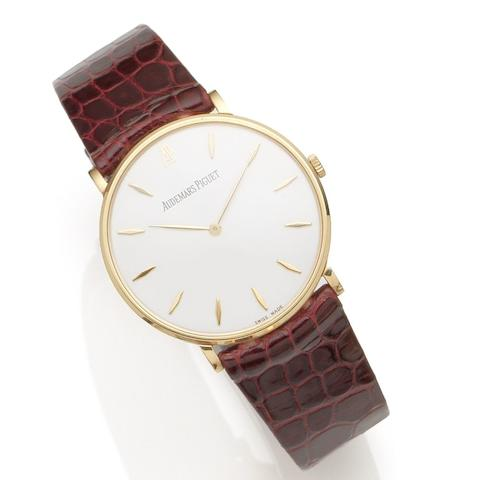 Audemars Piguet. An 18K rose gold manual wind wristwatch Ref:14539OR/O/0002 /02, Case No.D95028, Movement No.404783, Sold 27th June 2002
