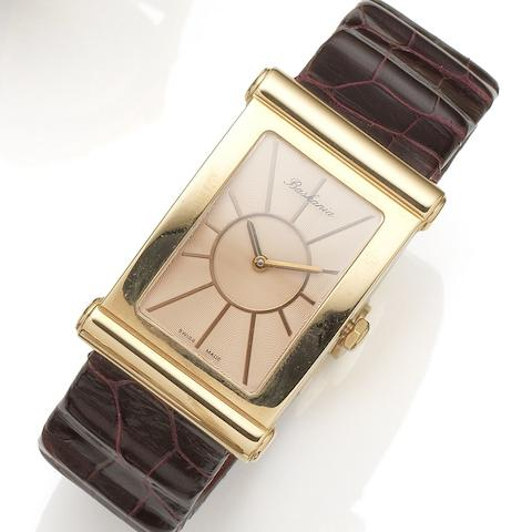 Baskania. An 18K rose gold automatic wristwatch Millennium, Ref:00.2142.04, Sold 19th June 2005