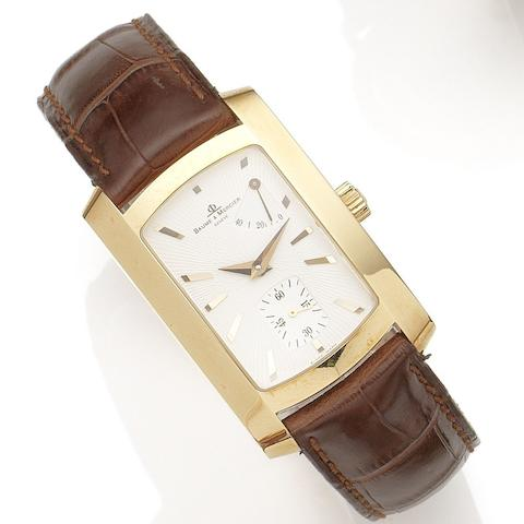 Baume & Mercier. An 18K rose gold manual wind wristwatch with power reserve Hampton, Ref:65362, Case No.3311480, Sold 17th October 2001