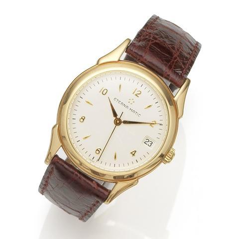 Eterna. An 18K gold automatic calendar wristwatch Eterna-Matic 1948, Ref:8400.69, No.046, Case No.629.8400.69S, Circa 1988