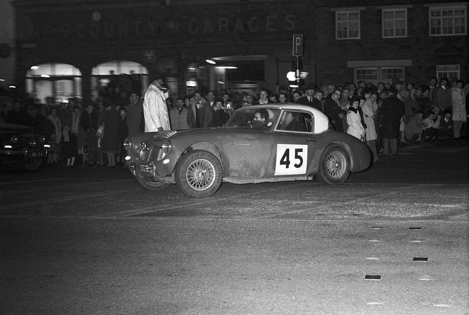The ex-Don Grimshaw; 1962 and 1965 Monte Carlo; 1965 East African Safari and 1965 Spa-Sofia-Liège Rallies,1958 Austin-Healey 100/6 Rally Car  Chassis no. BN6/974 Engine no. XSP/2188-1