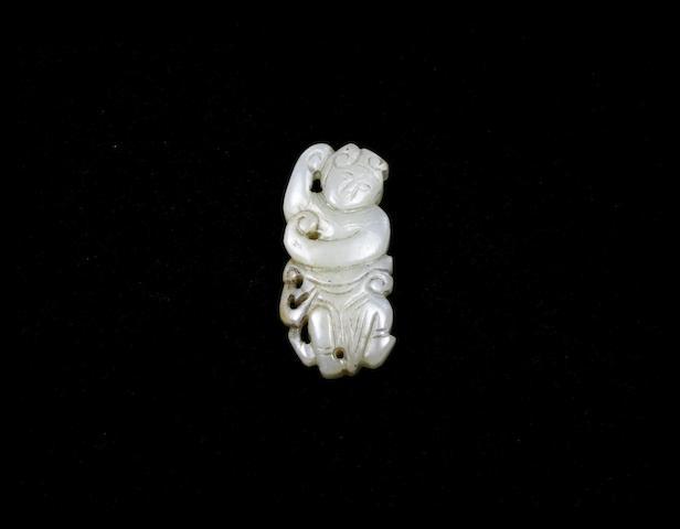 A jade female immortal pendant