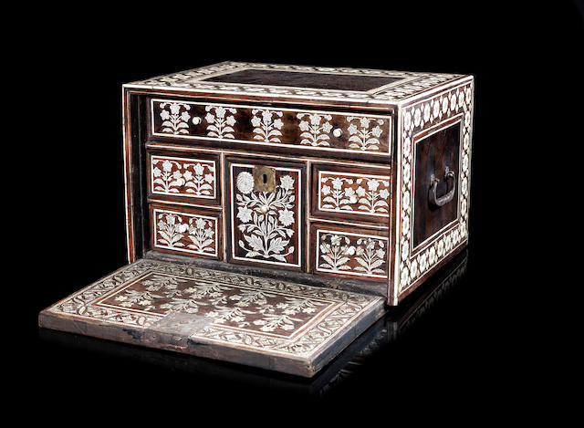 A Mughal ivory-inlaid Cabinet Gujarat, India, 17th Century and later