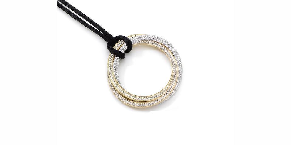 A diamond-set 'Trinity' pendant necklace, by Cartier