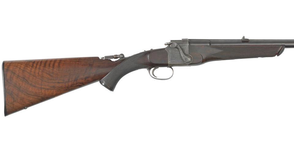 A fine .303 falling-block take-down rifle by Danl. Fraser, no. 2152