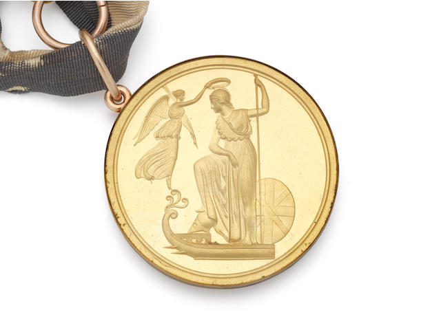 The First of June 1794 Naval Large Gold Medal and Archive to Admiral Lord Graves, Royal Navy,