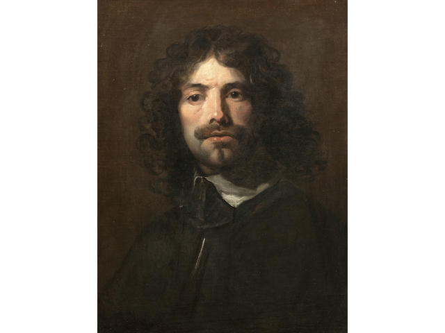 William Dobson (London 1611-1646) Portrait of the artist, bust-length, in a black tunic and white collar