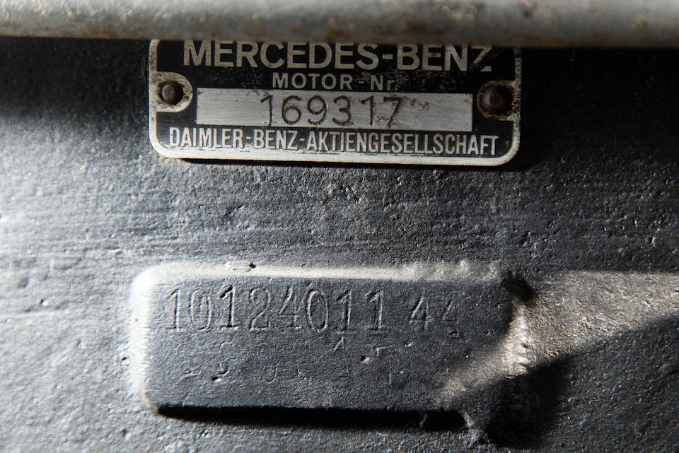1938 Mercedes-Benz 540K Roadster  Chassis no. 169317 Engine no. 169317