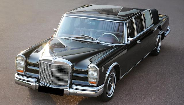 1971 Mercedes-Benz 600 Landaulet  Chassis no. 100.015-12-001879 Engine no. 621830 0riginal Mercedes-Benz replacement engine