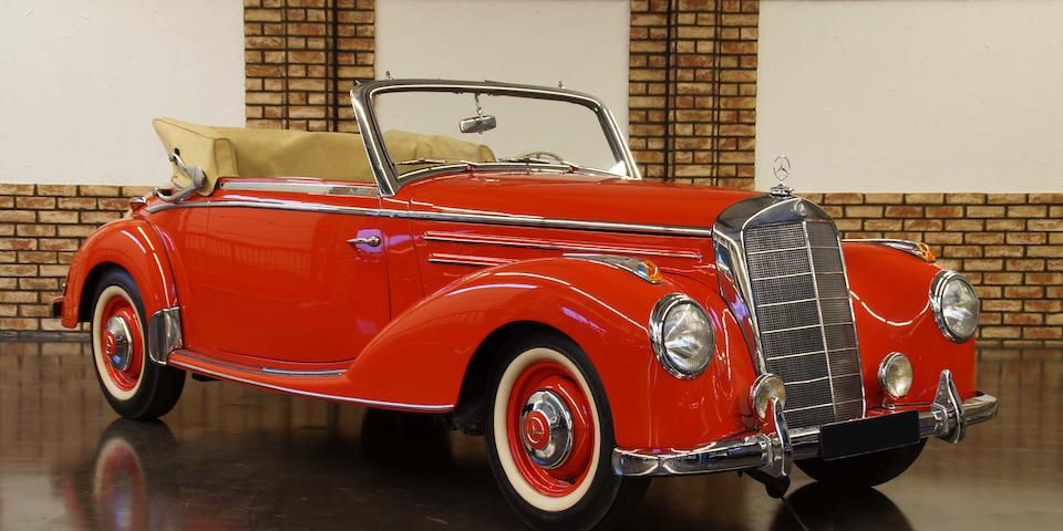1952 Mercedes-Benz 220 Cabriolet A  Chassis no. 187.012.02779/52 Engine no. 180.920.02537/52