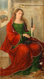 Attributed to The Tamara Master (active Spain, first half of 16th Century) Saint Lucy; and Saint Catherine  (2)
