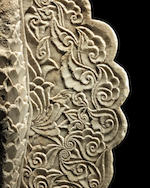 A rare Timurid carved marble Panel, possibly the back of a Throne Central Asia,  mid-15th century