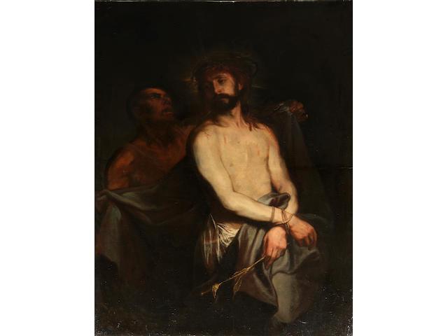 Follower of Sir  Anthony van Dyck (Antwerp 1599-1641 Blackfriars) Ecce Homo unframed