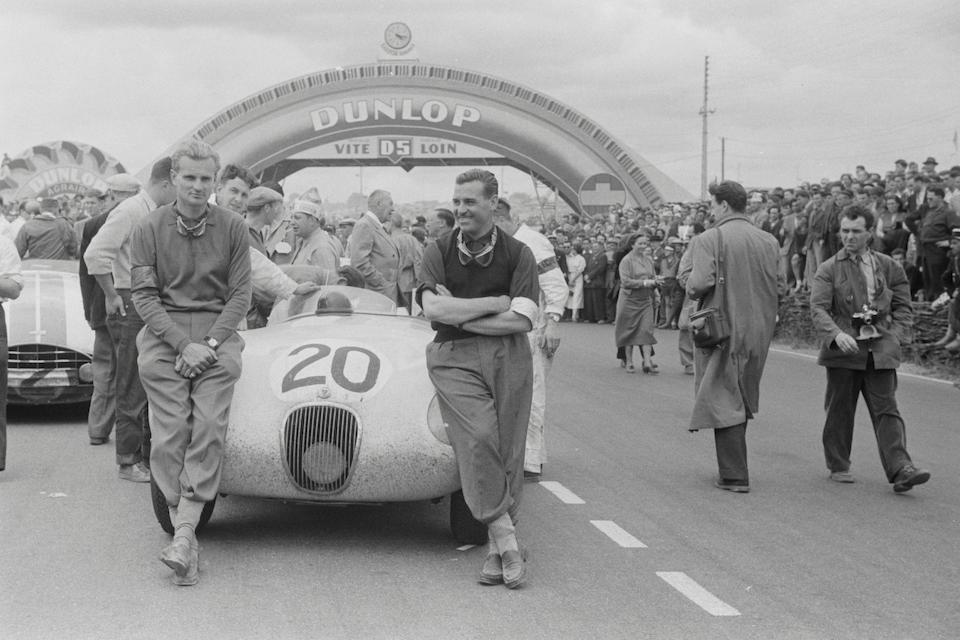 "The Ex-Ecurie Francorchamps, Roger Laurent, Baron Charles de Tornaco, Jacques Swaters, Olivier Gendebien – 1953 Le Mans 24-Hour, Spa 24-Hours, ADAC 1,000-Kilometres race,1953 Jaguar XK120C ""C-Type"" Sports Racing Two-Seat Roadster  Chassis no. XKC 011' – Originally 'XKC 047're-stamped 'XKC 011' by Jaguar Cars Ltd. Engine no. E 1066-9"