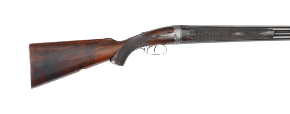 A fine and extremely rare 12-bore side-opening over-and-under round-action ejector gun by J. Dickson & Son, no. 4178, The first of only four ever made