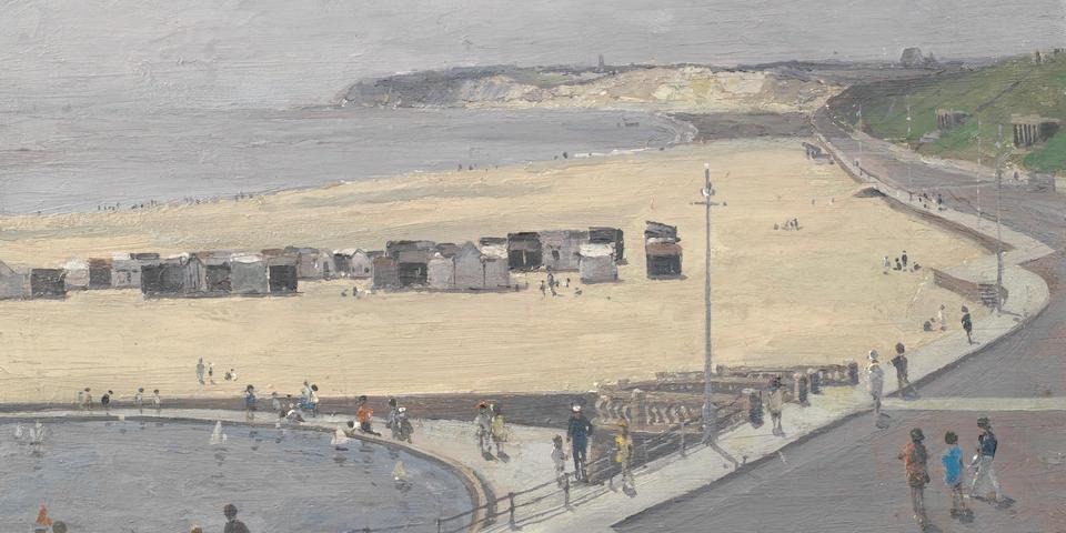 Campbell Archibald Mellon (British, 1876-1955) The Boat Pond at Gorleston 12 x 16 in