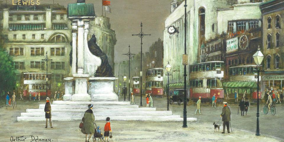 Arthur Delaney (British, 1927-1987) Piccadilly Gardens, Manchester