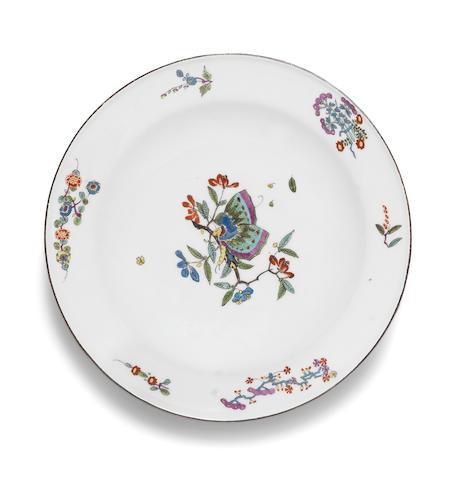 A Meissen deep plate Circa 1735-40