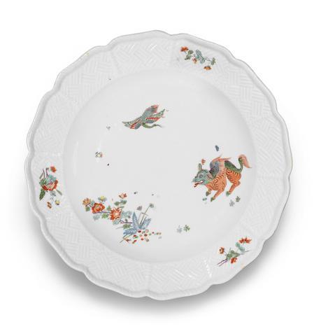 A Meissen plate Circa 1735-40