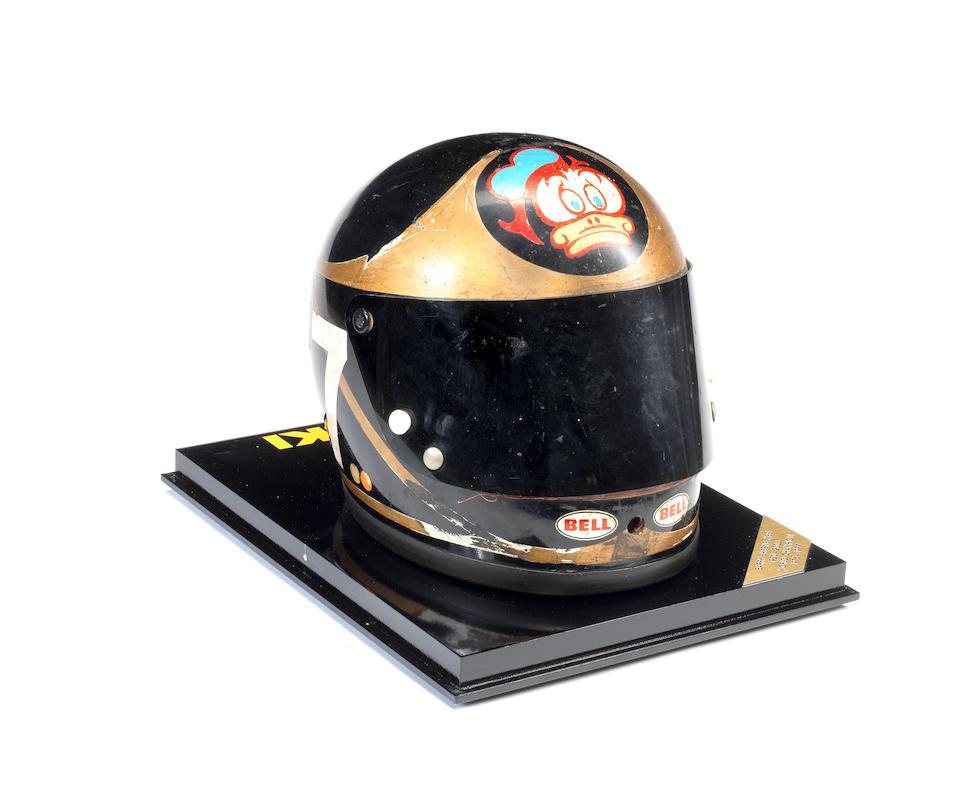 Barry Sheene's 1974 Bell racing helmet, ((6))