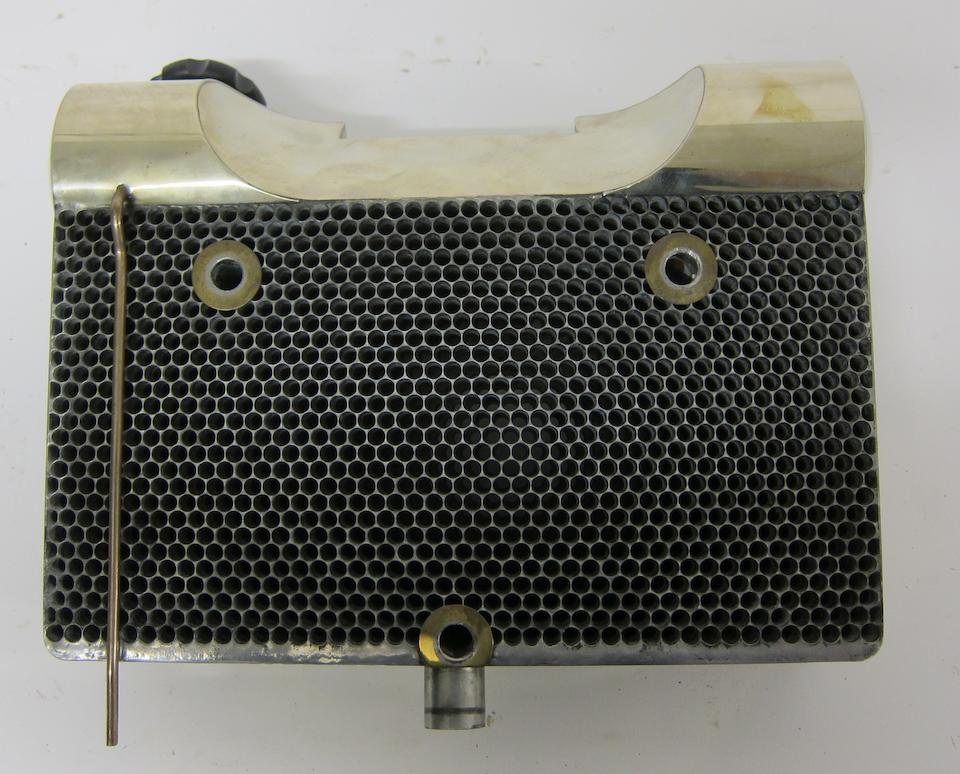 A newly manufactured heavyweight Scott honeycomb radiator,