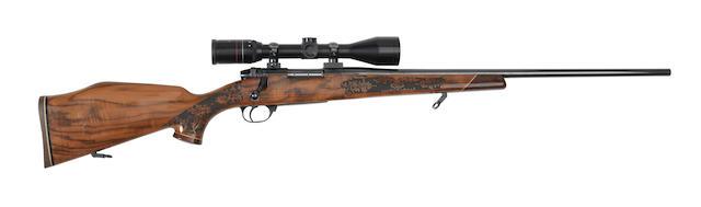A .224(W.M.) 'Mark V' bolt-magazine rifle by Weatherby, no. S04354