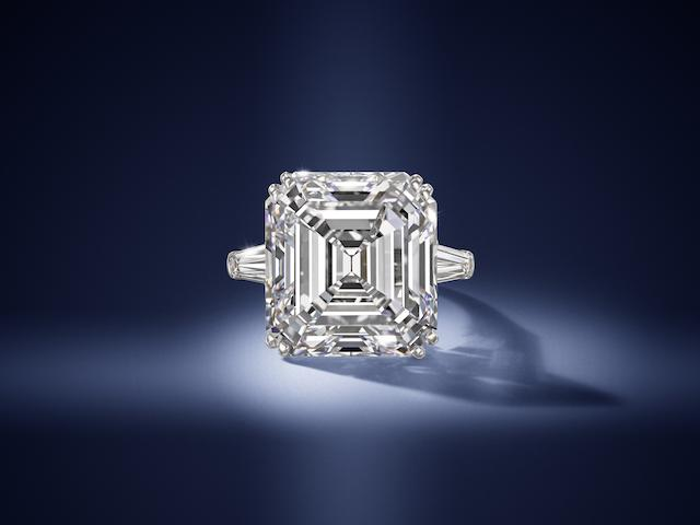 A magnificent diamond single-stone ring, by Harry Winston,