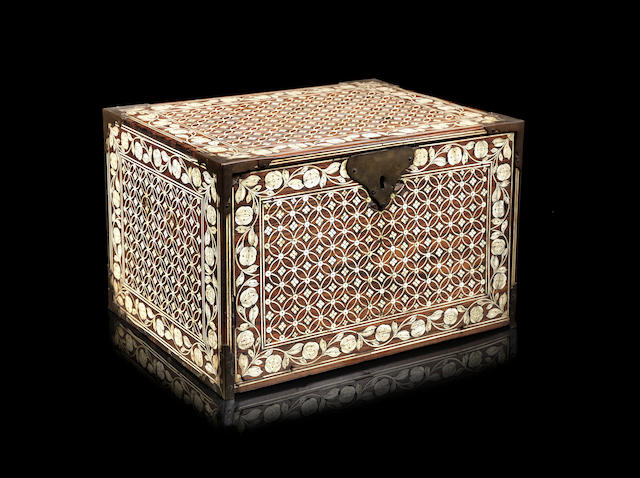 A Mughal ivory-inlaid cabinet Gujarat or Sindh, 17th/ 18th Century