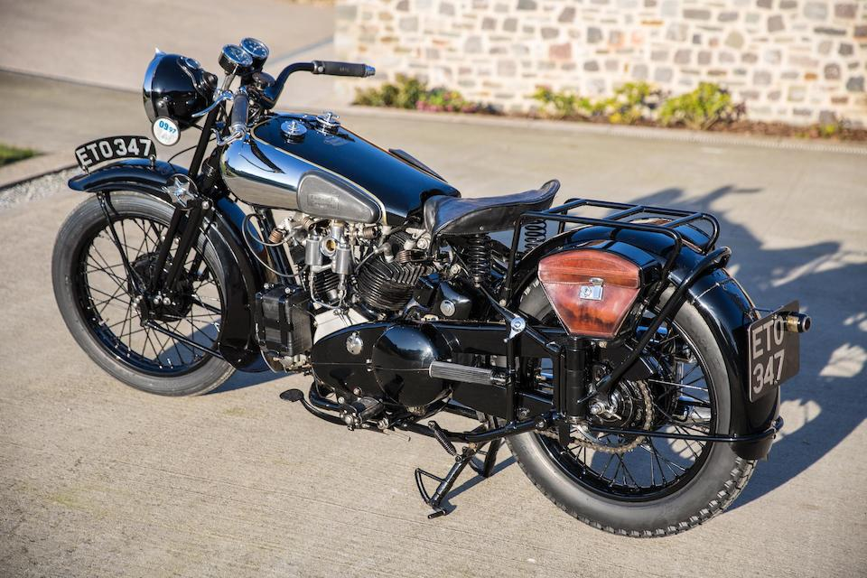 The ex-Henry Laird Demonstrator,1938 Brough Superior 982cc SS100  Frame no. M1/1936 Engine no. BS/X2 1039