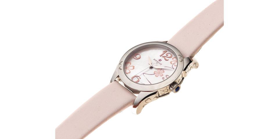 Perrelet. A lady's stainless steel automatic wristwatch Model: Sakura