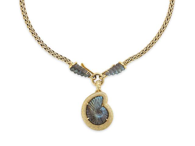 A labradorite necklace, by Elizabeth Gage