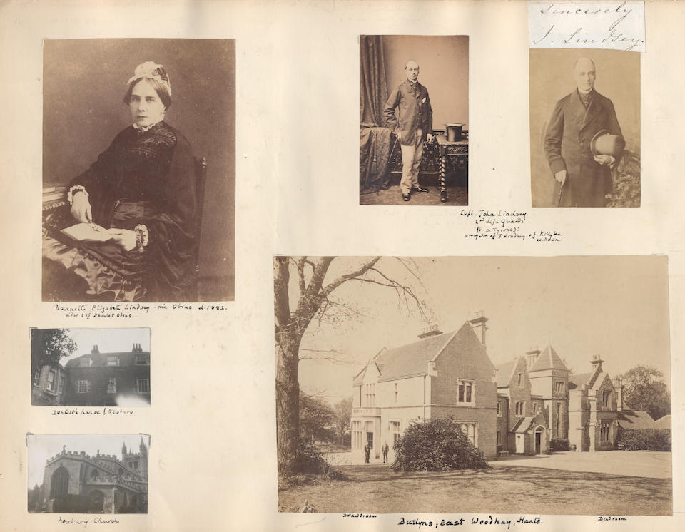 CAMERON (JULIA MARGARET) Four important early albumen prints of Annie Philpot, and autograph note signed by Cameron, [1864]