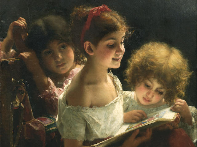 Alexei Alexeevich Harlamoff (Russian, 1840-1925) The story book