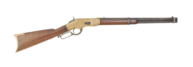 A .44 Winchester 1866 third model 'Yellow Boy' rim-fire repeating rifled carbine