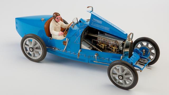 A 1:8 scale model of a Bugatti Type 35 Grand Prix de Lyon by J.P. Fontenelle