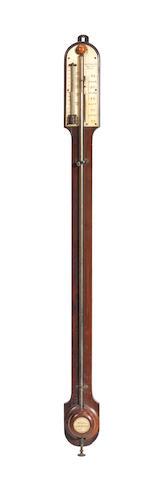 An Alexander Alexander stick barometer, English, Mid-19th century,