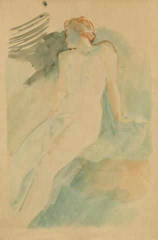 Lev Bruni (Russian, 1894-1948) Female nude