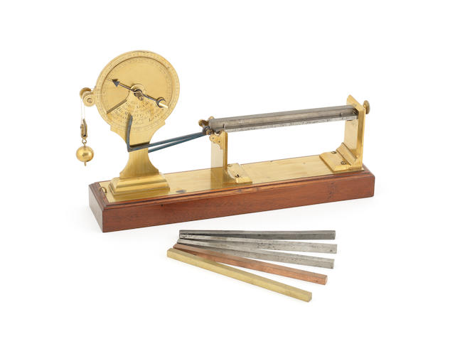 A fine and rare George Adams Senior pyrometer, English, Mid-18th century,