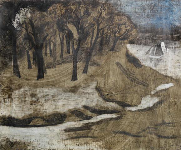 Ben Nicholson O.M. (British, 1894-1982) 1928 (Pill Creek) 50.8 x 60.9 cm. (20 x 24 in.)