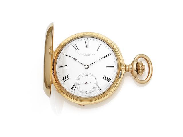 Patek Philippe & Co. An 18K gold keyless wind full hunter chronometer pocket watch Case No.68290, Circa 1885
