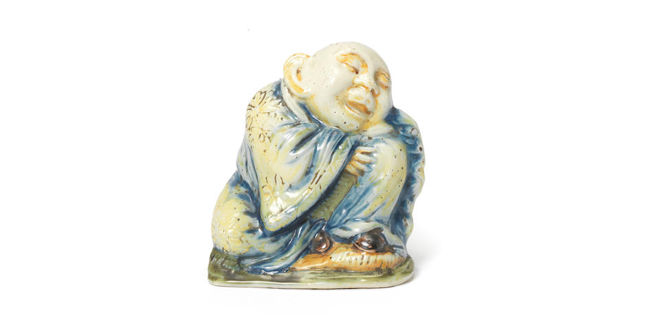 A documentary Turin, Rossetti's factory, soft-paste porcelain figure of Budai, circa 1737-42