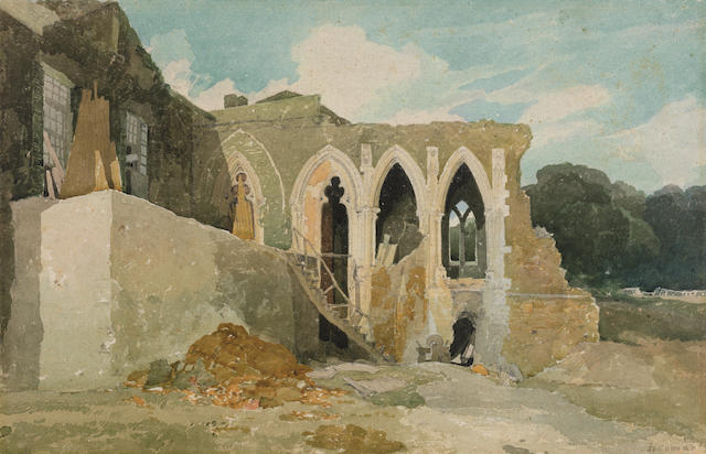 John Sell Cotman (Norwich 1782-1842 London) Part of the Refectory of Walsingham Abbey, Norfolk
