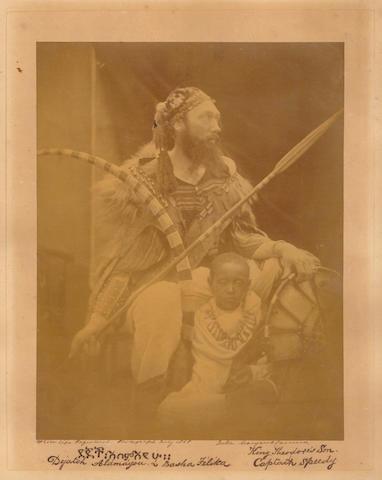 CAMERON (JULIA MARGARET) Déjatch Alámayou & Báshá Félika, King Theodore's Son & Captain Speedy, [July, 1868]